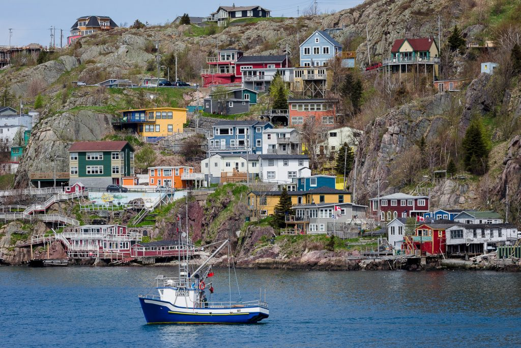 A colorful photo of the battery neighborhood in St Johns newfoundland