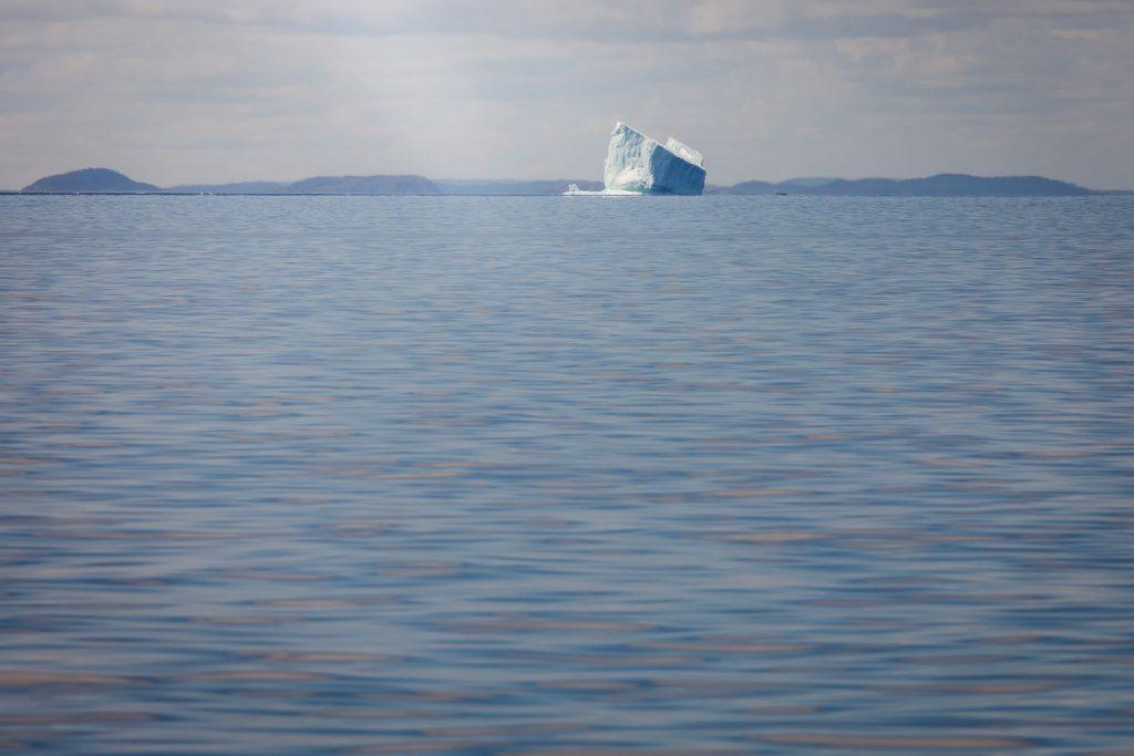 A giant iceberg in iceberg alley near Bonavista in newfoundland.