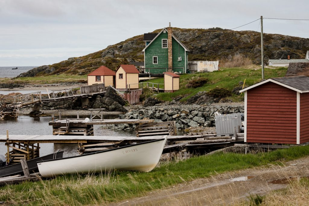 Lovely houses and boats in Back Harbor on Twillingate Island in Newfoundland Canada