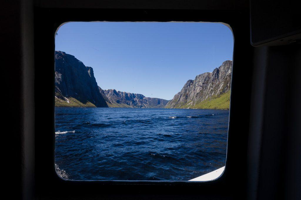 Boat tour of Western Brook Pond in Gros Morne National park Newfoundland Canada